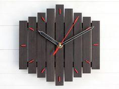 Pared reloj reloj de madera pared silencioso Romb reloj