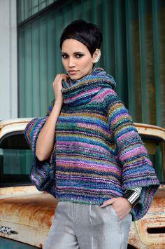Nouveau magazine Noro: a Way of Life | le blog PurPle Poncho Agyness tricoté en Obi n° 8
