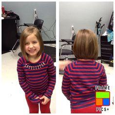 Little girl short layered cut. :)