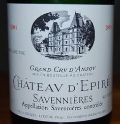 My kind of white wine--like licking a wet stone.  Chateau d'Epire from Savennieres in the Loire Valley.