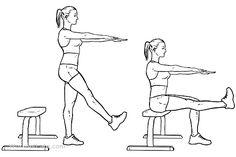 Single Leg Bench Bodyweight Squats