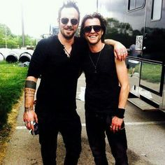 Cale Gontier with Adam.