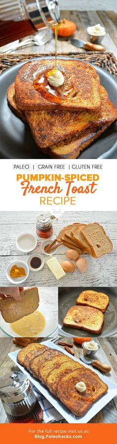 Homemade Paleo bread combines with the spices of the season to make an indulgent pumpkin-spiced French toast that will have the whole house smelling heavenly. For the full recipe, visit us here: http://paleo.co/frenchtoastrcp