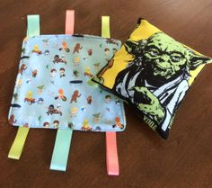 Star Wars baby taggie and baby Yoda pillow. by FeathersAndFantasy, $14.99
