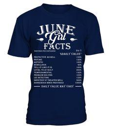 June Girl Facts T-shirt