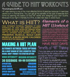An info graphic illustrating the benefits and goals of a HIIT - high intensity interval training - workout. Fitness Nutrition, Fitness Tips, Fitness Motivation, Fitness Fun, Exercise Motivation, Fitness Weightloss, Workout Session, High Intensity Interval Training, I Work Out