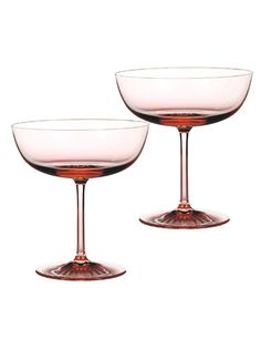 Waterford Monique Lhuillier Blush Champagne Saucer, Pair