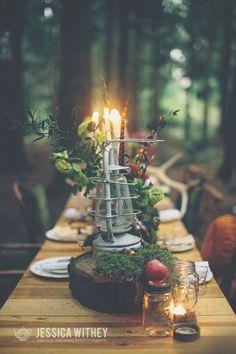 Vintage Woodland Wedding Styling