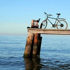 Bike rides to the water, nice and peaceful! You gotta LOVE the smell of salt water, sound of waves-- all that great stuff ! Bike Shop, Mountain Biking, Life Is Good, Cycling, Scenery, Around The Worlds, Ocean, In This Moment, Adventure