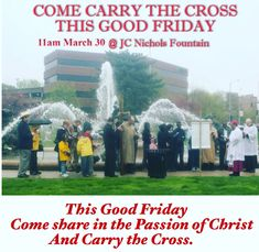 Come Carry the Cross this #goodfriday #kansascity  at #jcnicholsfountain  #countryclubplaza