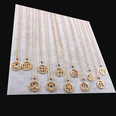 Zodiac Sign Necklaces now available in gold! check out www.zodiactrends.com #Virgo #Capricorn #Aries #Libra #Pisces #Scorpio #Cancer #Taurus #Sagittarius #Gemini #Aquarius #Leo