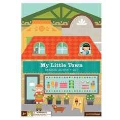 Vinyl-free, eco-friendly My Little Town reusable sticker book from Petit Collage makes an excellent toddler travel activity or gift! Toddler Travel Activities, Book Activities, Sticker Paper, Stickers, Stocking Fillers For Kids, Kid Picks, Bee Gifts, Collage Making, Random Stuff