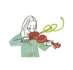 Mattias Käll Illustration Pennybridge fiol
