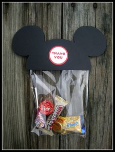 Mickey Mouse Treat Bag  Set of 10 by jilliansawyer on Etsy, $9.00