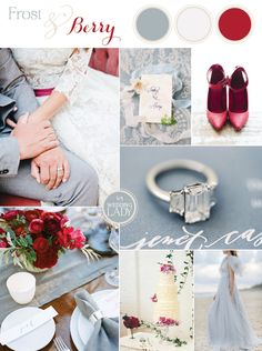 Frost Blue and Berry for a Chic Winter Wedding Palette