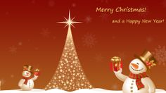 Merry Christmas and Happy New Year 2014 Snowman Wallpaper HD