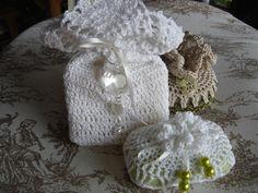 Bomboniere profumate crochet! fantasie dipinte di Rita e Barby  rbpittura.blogspot.com