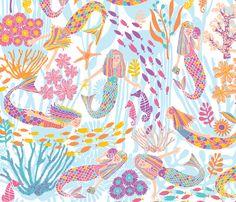mermaid dream fabric by gracedesign on Spoonflower - custom fabric