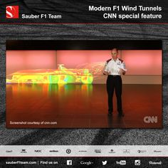 CNN visited @sauberf1pins shortly before the summer break to produce this interesting piece about modern F1 wind tunnels. #F1 #SauberF1Team #Aerodynamics #WindTunnel #Formula1 #FormulaOne #motorsport