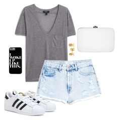 """""""I woke up like this."""" by ellaluellaa ❤ liked on Polyvore featuring MANGO, Rocio, adidas, Lee Renee, women's clothing, women, female, woman, misses and juniors"""