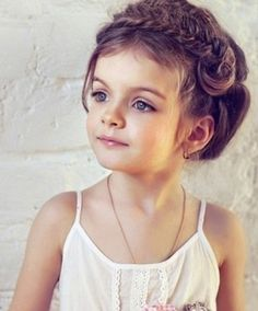So cute braid updo for flower girl
