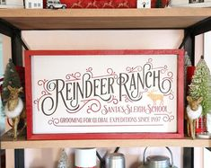 SVG Reindeer Ranch Christmas Cutting File for Cricut Explore, Silhouette Cameo, Cutting Machines