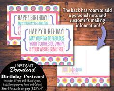 Hey, I found this really awesome Etsy listing at https://www.etsy.com/listing/292177765/lularoe-printable-birthday-card-postcard