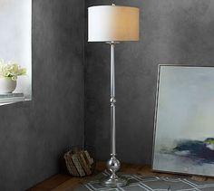Gillian Candlestick Floor Lamp Base #potterybarn