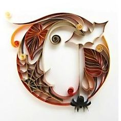 """Quilled """"O"""" for October - from Mimpara Cinacalcet Calendar by Sabeena Karnik, via Behance"""
