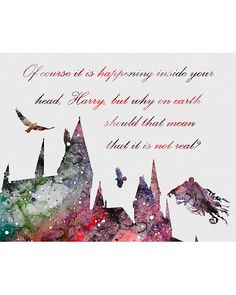 Harry Potter Hogwarts Watercolor Art 1