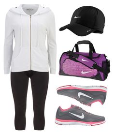 """""""Nike Babe ; Adriana"""" by zzeelleestyles ❤ liked on Polyvore featuring NIKE, Manon Baptiste and Wildfox"""