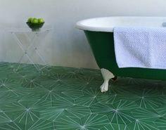 Unusual green tile. I like it.