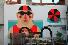 "agostino iacurci | ""Intruder"" New Mural in Nuremberg, Germany"