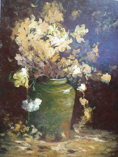 Jarra y Flores Pintor Helmut Lemp  ( helepe )