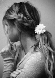 Loose braided ponytail - good idea for school