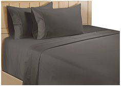 Color Sense Egyptian Cotton 325 Thread Count Satin Sheet Set, King, Grey Ready for bedroom  pictures  http://aluxurybed.com/product/color-sense-egyptian-cotton-325-thread-count-satin-sheet-set-king-grey/