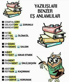 Improve English, Learn English, English Grammar, English Language, Turkish Lessons, English Collocations, English Time, Turkish Language, Grammar And Vocabulary