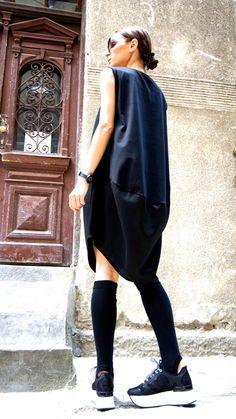 Nueva colección gran tamaño flojo Casual Top negro lino