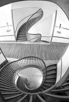 Trustee's Office, Pleasant Hill, Kentucky; Shaker Staircase...two identical staircases; one for men, one for women.