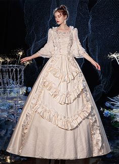 Royal Ball Gowns, Royal Dresses, Ball Gown Dresses, Masquerade Dresses, Masquerade Prom, Victorian Costume, Victorian Party, Victorian Dresses, Rococo Dress