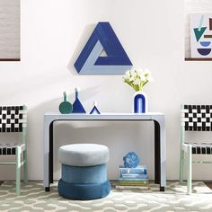 Now House by Jonathan Adler Triangle Chroma Wall Art, Blue Retro Furniture, Cheap Furniture, Online Furniture, Kids Furniture, Furniture Design, Furniture Logo, Furniture Decor, Bedroom Furniture, Outdoor Furniture
