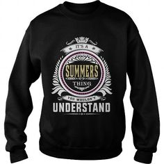 Awesome Tee  summers  Its a summers Thing You Wouldnt Understand  T Shirt Hoodie Hoodies YearName Birthday T shirts