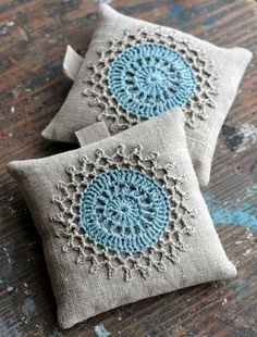 Lavender sachets  crochet motif  set of 2 by namolio on Etsy, $18.00