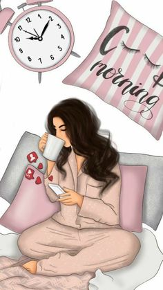 Good morning and beautiful Day.💖😊🌷 Good morning and beautiful Day…💖😊🌷 Photographie Portrait Inspiration, Girly M, Illustration Mode, Illustrations, Girly Drawings, Cute Love, Fashion Sketches, Girl Boss, Beautiful Day