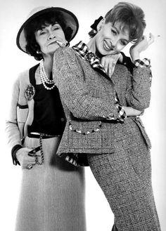 Coco Chanel et Suzy Parker. Photo: Richard Avedon, Janvier 1959.