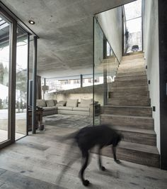 Elegant and Comfortable Atmosphere: Haus Walde by Gogl ArchitektenThis modern residence is a 2012 project by Gogl Architekten that was designed for a client in Kitzbühel, Austria. The contrast of wood and glass make. Architecture Details, Interior Architecture, Interior Design, Creative Architecture, Wood Stairs, Chalet Style, Interior Stairs, Stairway To Heaven, Interior Inspiration