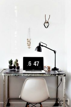 eclectic minimalist office space
