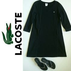 Lacoste Sweatshirt Dress Sz XL Lacoste Sweatshirt Dress in hard to find Sz 46. Excellent like new condition. Sorry no trades. Lacoste Dresses Long Sleeve
