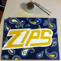 """From @lalalalal_Laura: """"Just finished my @uakron art for my dorm  yay I can't wait to be a zip #FutureZip """""""