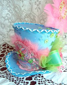 Items similar to Gorgeous Mad Hatter Top Ala Carte OR with Headband Fascinator in your Custom Colors on Etsy